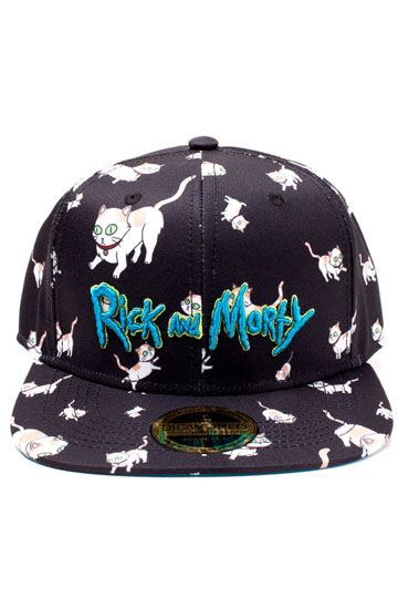 d785b7bb Rick and Morty Embroidery Snapback Cap Cats AOP