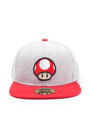 284f237ef78 Nintendo Snapback Cap Mushroom Logo