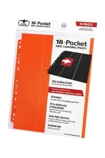Ultimate Guard 18-Pocket Pages Side-Loading Blue 10 Card Binders Sheets