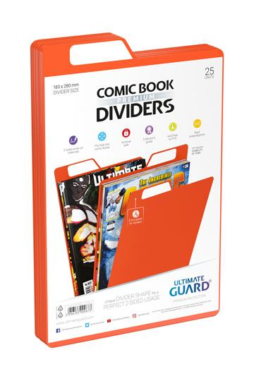 Pack of 25, Green Ultimate Guard Premium Comic Book Dividers Binders & Binder Accessories