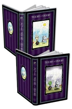 Tim Burton Pull-Tab Journal Toxic Boy & Stain Boy 15 x 23 cm