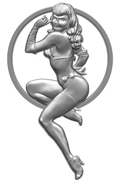 Bettie Page Pin Girl Of Our Dreams