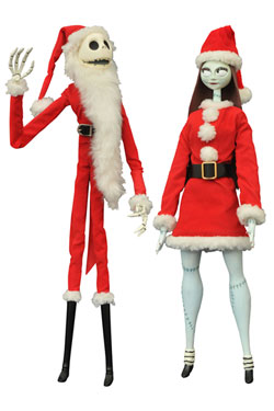 Nightmare before Christmas Coffin Dolls 2-Pack Santa Jack & Sally Limited Edition 41 cm