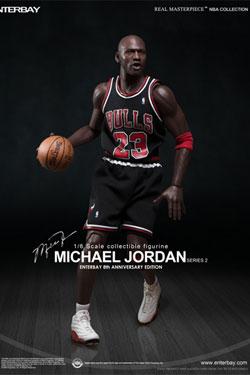 NBA Collection Real Masterpiece Actionfigur 1/6 Michael Jordan (Black Jersey) 33 cm