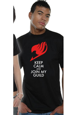 Fairy Tail T-Shirt Keep Calm Size M