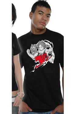Fairy Tail T-Shirt Natsu Cloud Size S