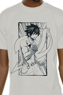 Fairy Tail T-Shirt Gray Line Size L