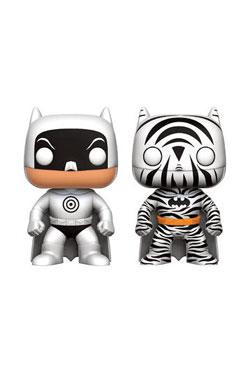 DC Comics POP! Heroes Vinyl Figures 2-Pack Zebra & Bullseye Batman 9 cm