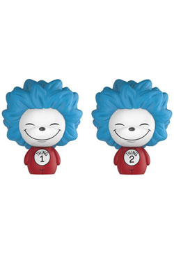 Dr. Seuss Dorbz Vinyl Figures 2-Pack Thing 1 & Thing 2 8 cm