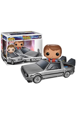 Back to the Future POP! Vinyl Figure Delorean with Marty 10 cm