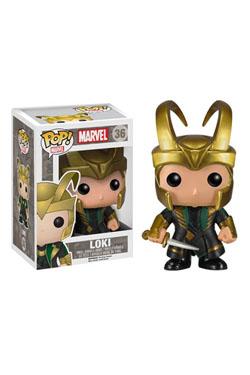 Thor 2 POP! Marvel Vinyl Bobble-Head Loki with Helmet 10 cm