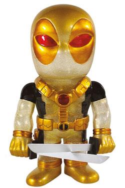 Marvel Comics Hikari Sofubi Vinyl Action Figure Glitter Black & Gold Deadpool 19 cm