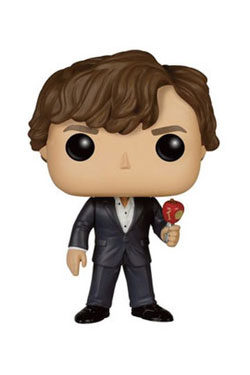 Sherlock POP! TV Vinyl Figure Sherlock with Apple 9 cm