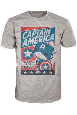 Captain America POP! Tees T-Shirt Fighting For Freedom Size XXL