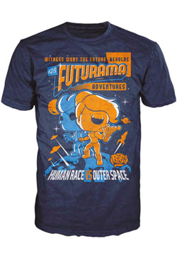 Futurama POP! Tees T-Shirt Adventure Poster Size XXL