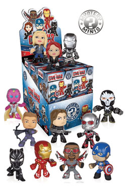 Captain America Civil War Mystery Mini Figures 6 cm Display (12)