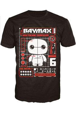 Big Hero 6 POP! Tees T-Shirt The Baymax Tech Size S