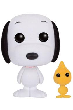Peanuts POP! Animation Vinyl Figure Snoopy & Woodstock (Flocked) 9 cm