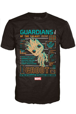 Guardians of the Galaxy POP! Tees T-Shirt Groot Line-Up Size L