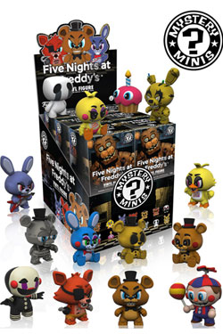 Five Nights at Freddy's Mystery Mini Figures 6 cm Display (12)