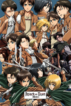 Attack on Titan Poster Pack Collage 61 x 91 cm (5)
