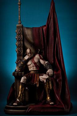 God of War Statue 1/4 Kratos on Throne 74 cm