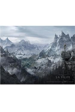 The Elder Scrolls V Skyrim Wallscroll Valley 100 x 77 cm