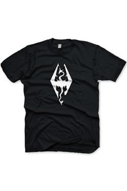 The Elder Scrolls V Skyrim T-Shirt Dragon Symbol Size M
