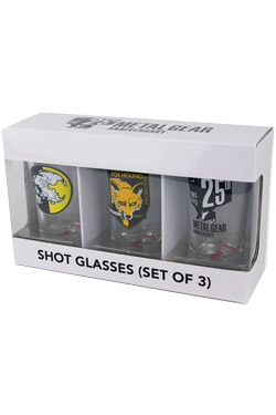 Metal Gear Solid Shotglass 3-Pack Set I