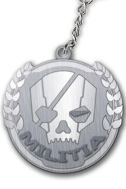 Titanfall Metal Keychain Militia Logo