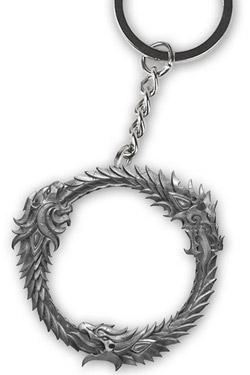 The Elder Scrolls Online Metal Keychain Ouroboros