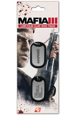 Mafia III Dog Tags with ball chain Clay Lincoln