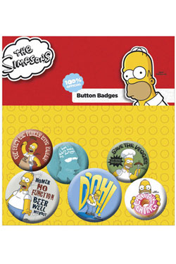 Simpsons Pin Badges 6-Pack Homer