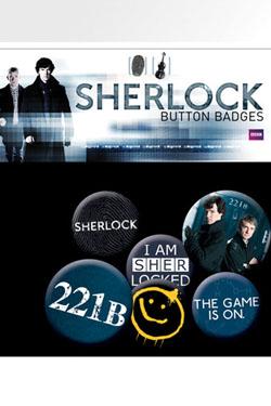 Sherlock Pin Badges 6-Pack Mix