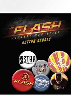 Flash Pin Badges 6-Pack Mix