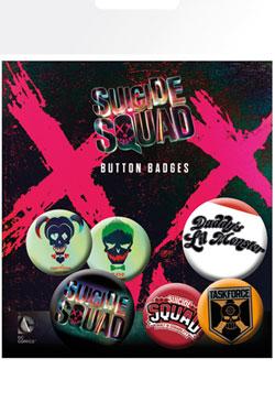 Suicide Squad Pin Badges 6-Pack Lil Monster