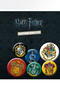 Harry Potter Pin Badges 6-Pack Crests