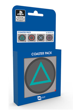 Playstation One Coaster Buttons 4-Pack