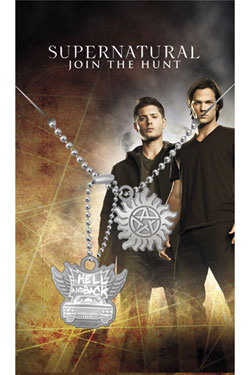 Supernatural Dog Tags with ball chain Hell & Back