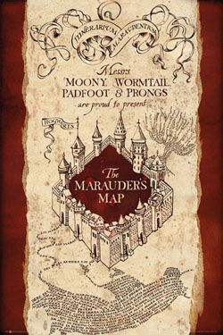Harry Potter Poster Pack Marauders Map 61 x 91 cm (5)