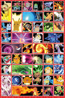 Pokemon Poster Pack Moves 61 x 91 cm (5)