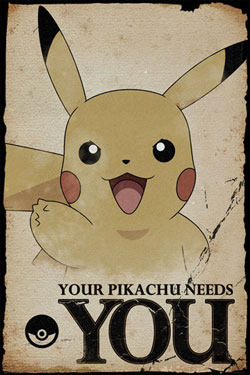 Pokemon Poster Pack Pikachu Needs You 61 x 91 cm (5)