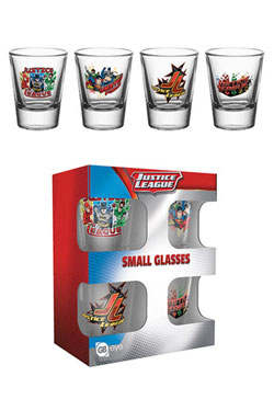 Justice League Shotglass 4-Pack Characters