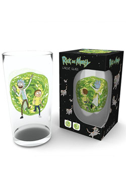 Rick and Morty Pint Glass Portal