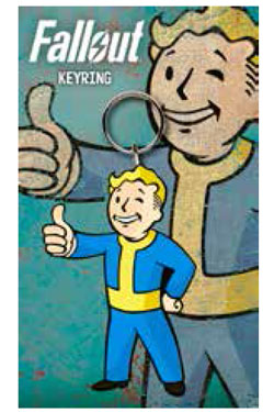 Fallout Rubber Keychain Vault Boy Thumbs Up 7 cm
