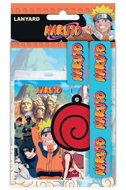 Naruto Lanyard with Rubber Keychain Logo