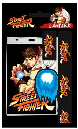 Street Fighter Lanyard with Rubber Keychain Ryu