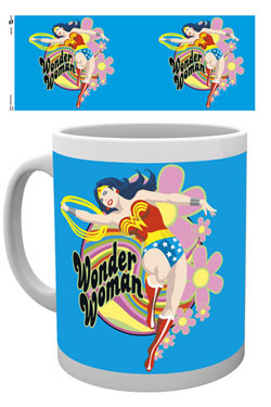 Wonder Woman Mug Flowers
