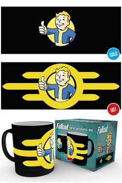 Fallout Heat Change Mug Vault Boy