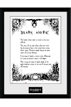 Death Note Framed Poster Deathnote 45 x 34 cm